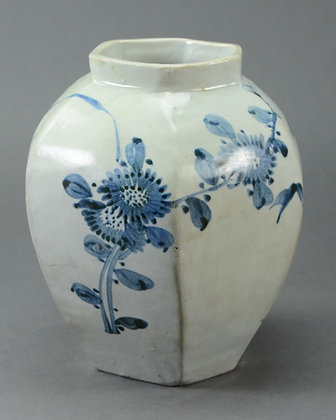 Korean Blue & White Porcelain Jar