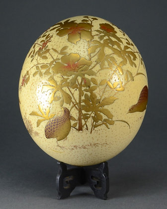 Japanese Gilt Lacquer Ostrich Egg