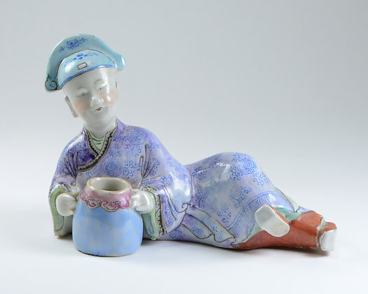 Chinese Famille Rose Porcelain Figure of a Scholar