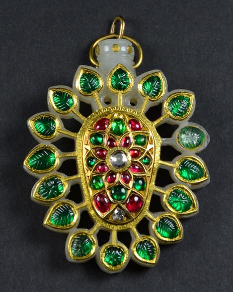 Mughal Jade Turban Pin Pendant