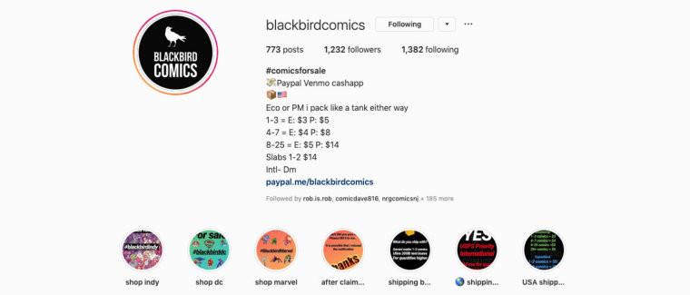 Blackbird Comics on Instagram