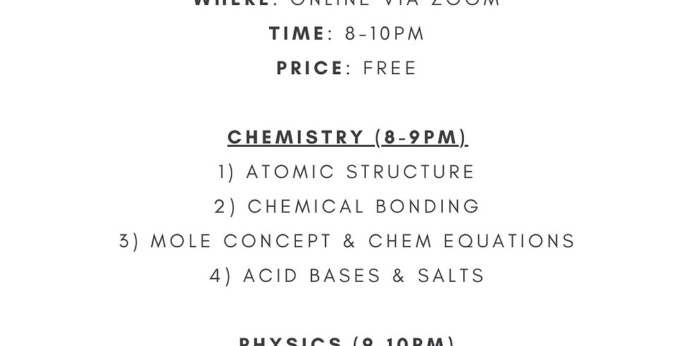 Sec 3 EOY Revision Package (Chem + Physics)
