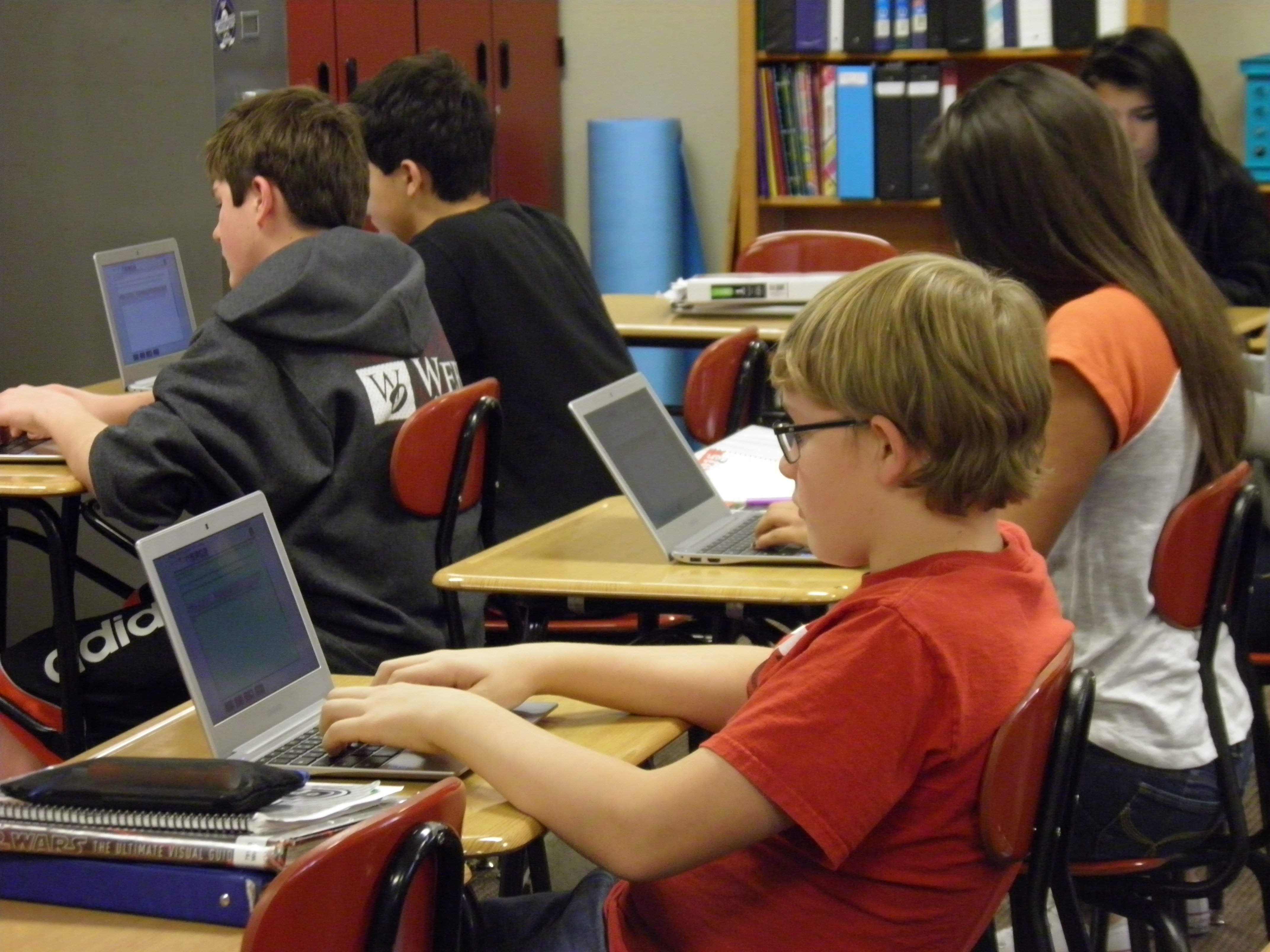 Bluffs Middle School Chromebooks