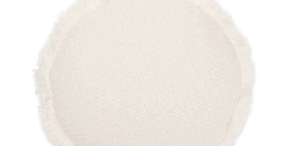 Round White Cushion