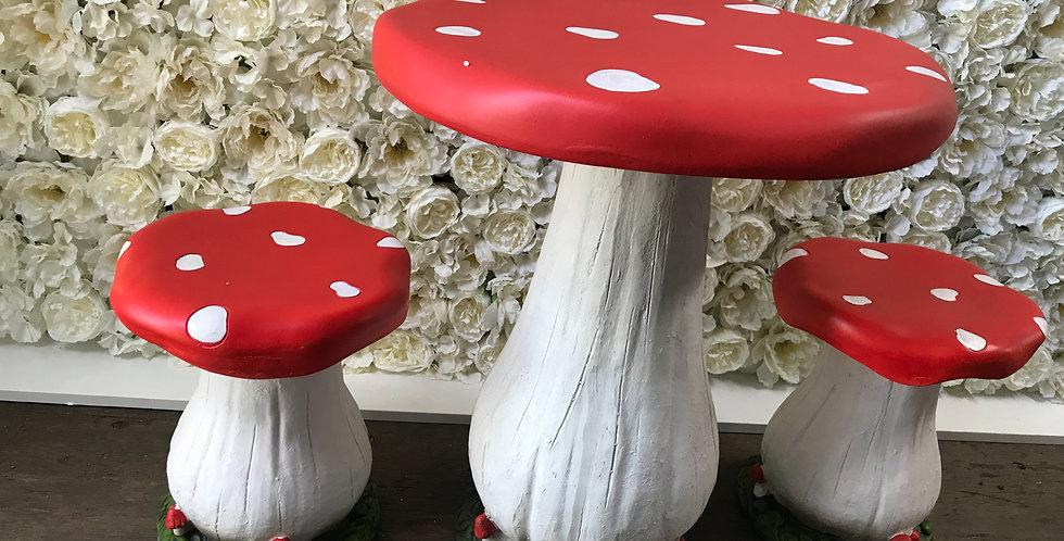 Set Of 3 Mushroom Decorations