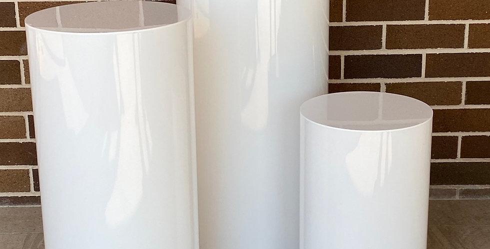 White Acrylic Plinths