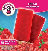 La Michoacana Fresa Paletas Strawberry Frozen Fruit Bars