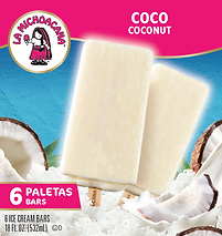 05101 La Michoacana Coco Paleta Coconut Ice Cream Bars