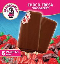 La Michoacana Choco-Fresa Paletas Choco-Berry Ice Cream Bars