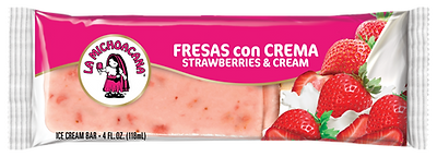 La Michoacana Fresas con Crema Paleta Strawberry and Cream Ice Cream Bar