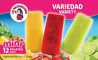 La Michoacana Variety Paletas Frozen Fruit Bars
