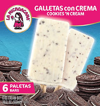 La Michoacana Galletas con Cream Paletas Cookies and Cream Ice Cream Bars