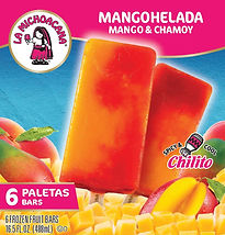 La Michoacana Mangohelada Paletas Mango with Chamoy Frozen Fruit Bars