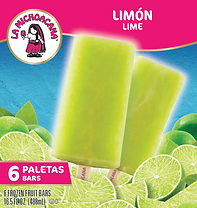 La Michoacana Limon Paletas Lime Frozen Fruit Bars