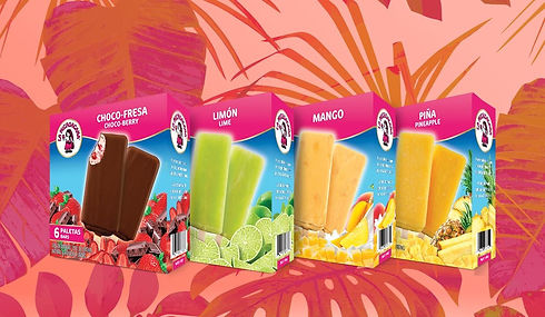La Michoacana Choco-Fresa and Limon Paletas Ice Cream Bars Packs