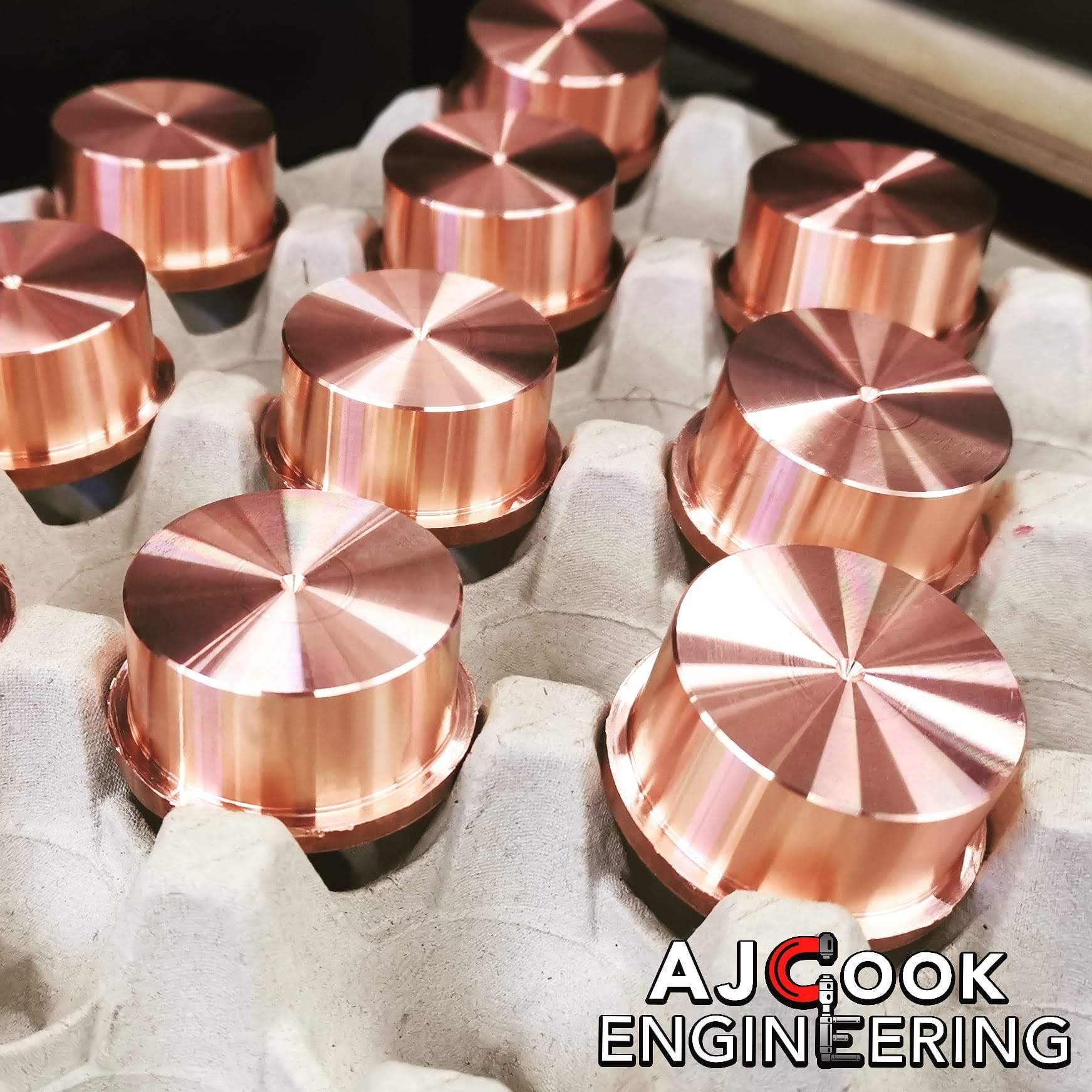 CNC Turned copper components
