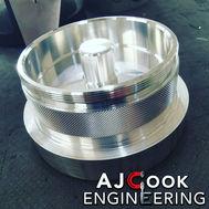Aluminium turned component
