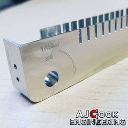 Machine engraved stainless steel part marking