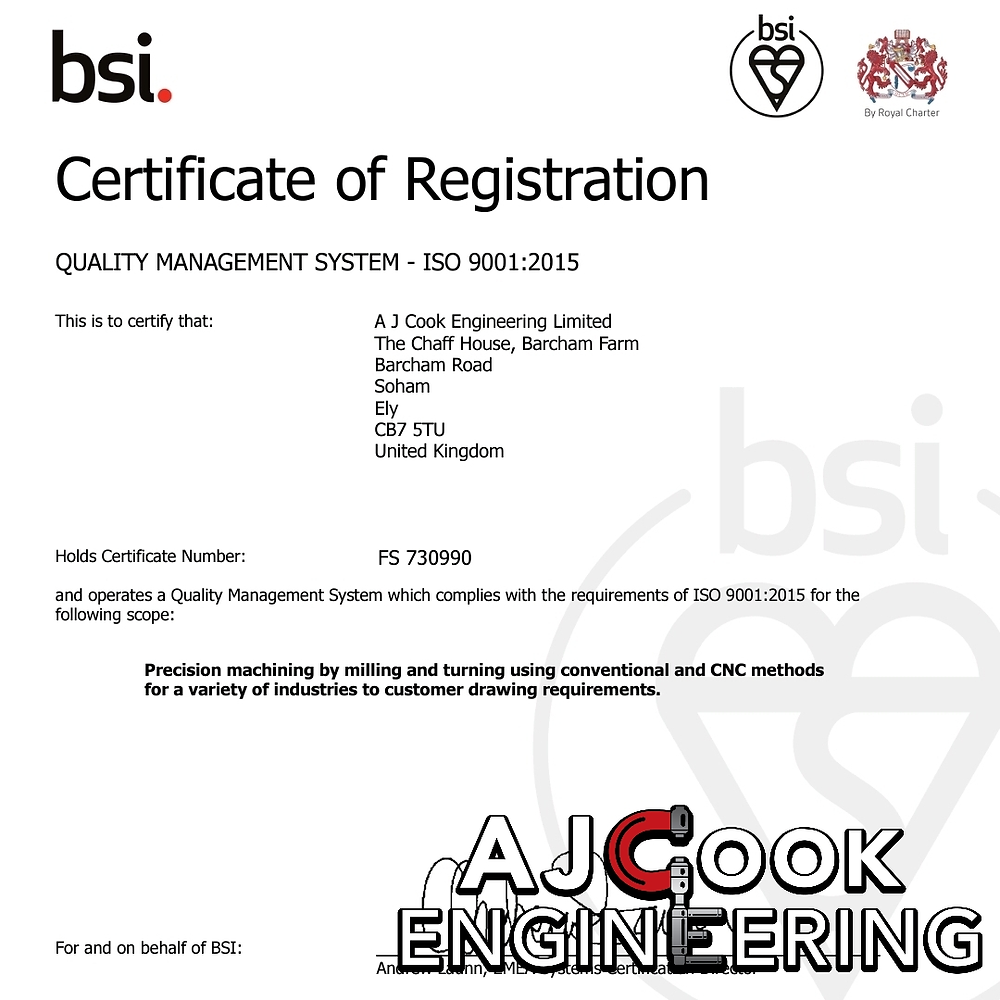 ISO9001 Accredited Precision Engineering