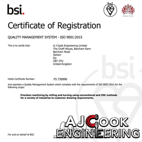 ISO 9001:2015 ACCREDITED!