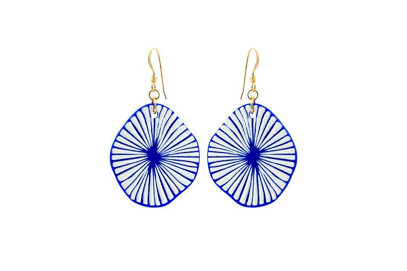 Blue Burst Earrings