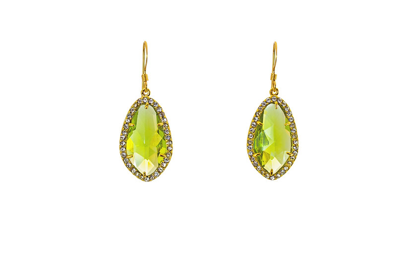 Deco CZ Color Therapy Gold | Green Apple