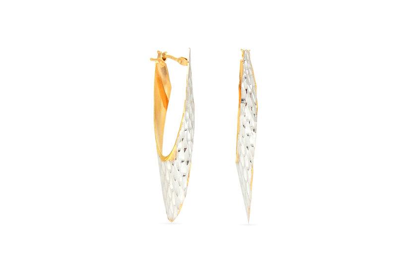 14k Rose + White Gold Dagger