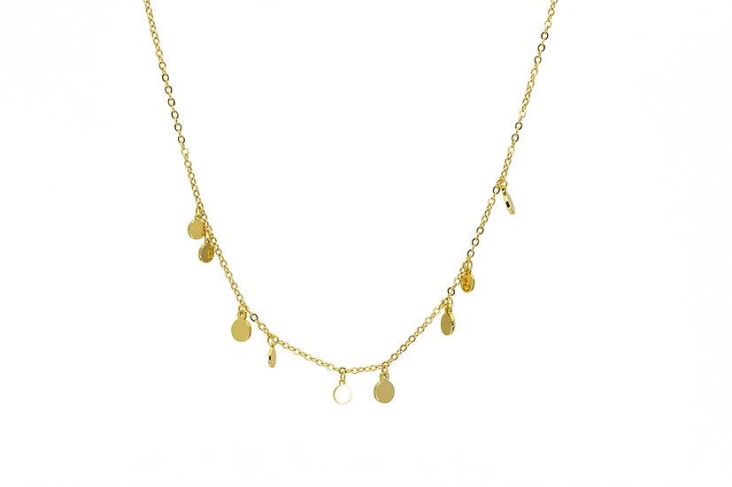 Mini Gold Coin Chain Necklace