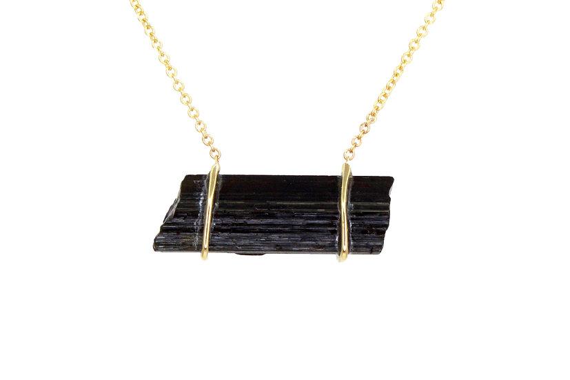 Black Tourmaline + 14k Gold