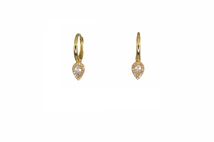 Diamond + 14k Gold Ear Huggie