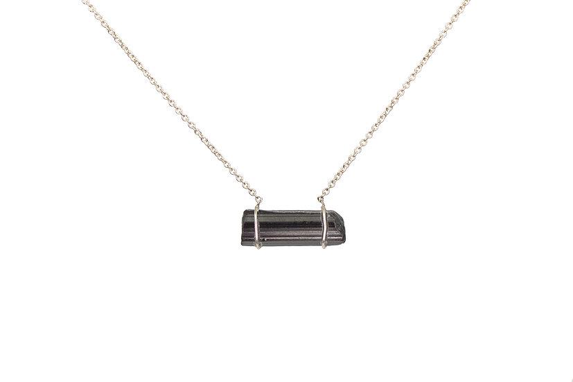 Black Tourmaline + Sterling Silver