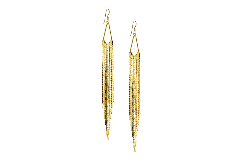 Extra Long Cascade Earrings