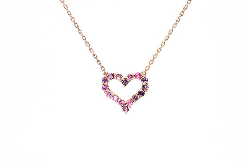 Pink Sapphire + 14k Rose Gold