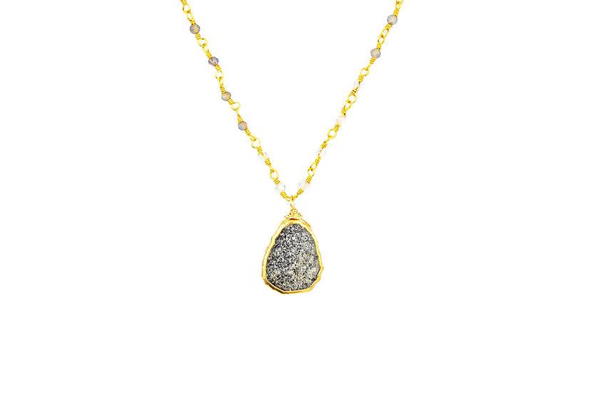 Gemstone Slice Necklace