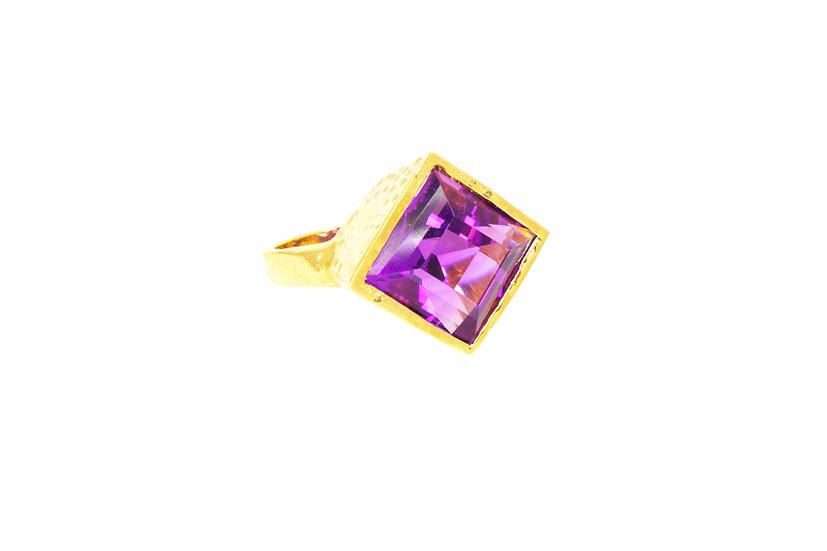 Amethyst + 14k Gold