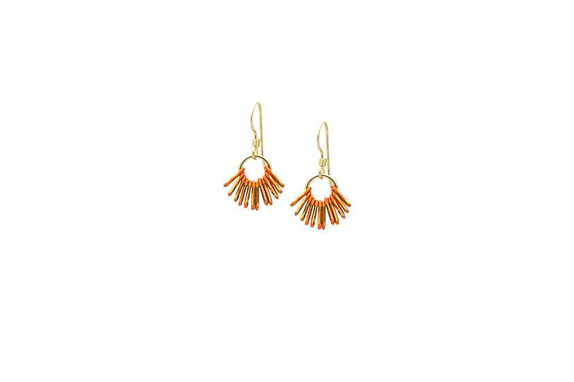 Mini Chain Earrings: Pumpkin