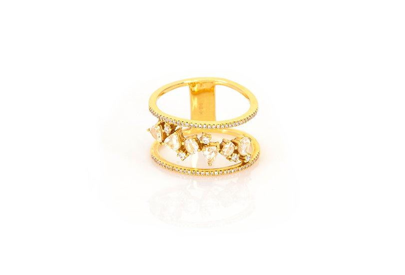 Big Dipper Diamond + 14k Yellow Gold Ring