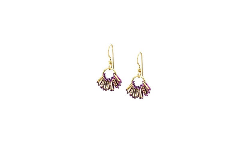 Mini Chain Earrings: Grape