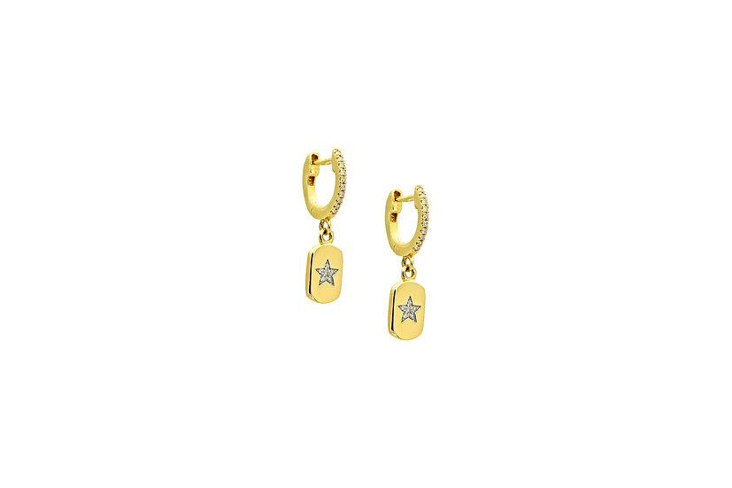 Diamond + 14k Yellow Gold