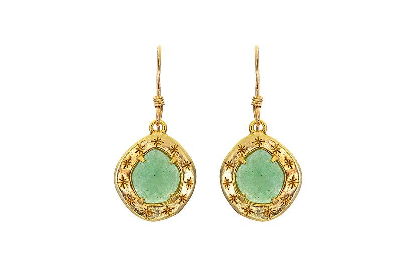 Starry Amazonite Earrings