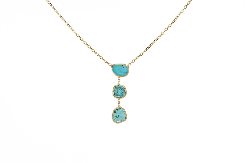 14k Gold + Blue Diamond