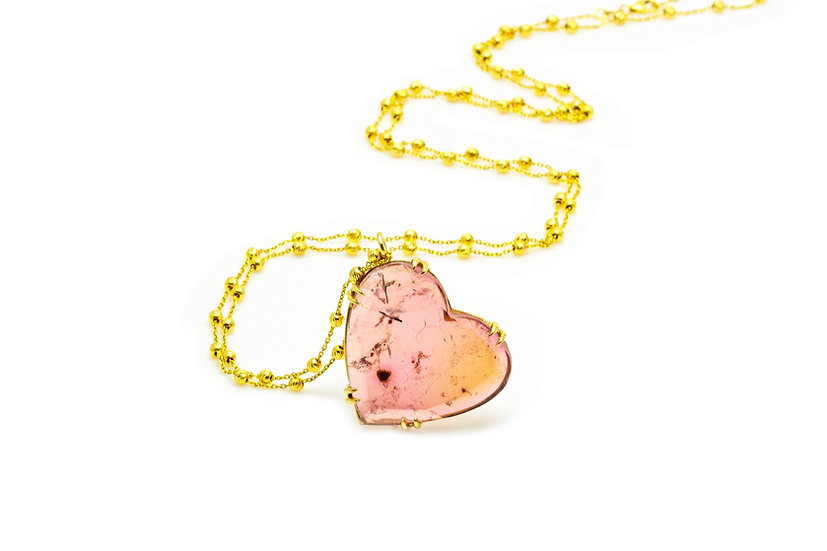 Pink Tourmaline + 14K Yellow Gold