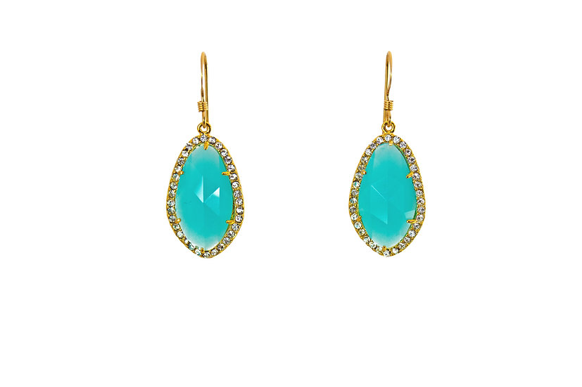 Deco CZ Color Therapy Gold   Mint