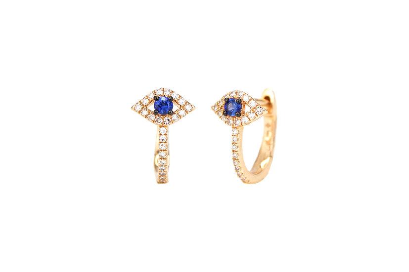 Sapphire + Diamond Evil Eye