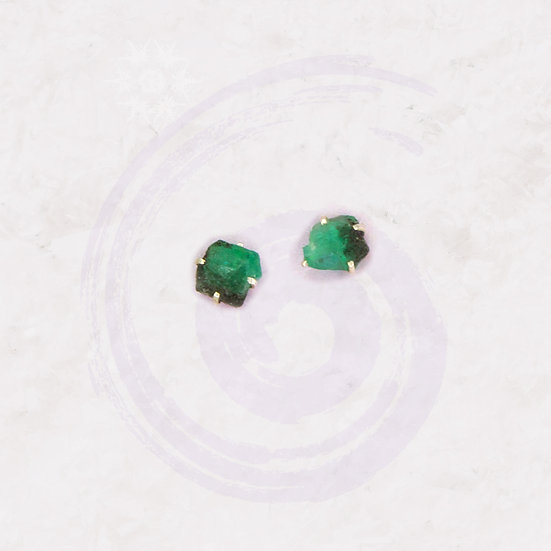 Emerald + Sterling Silver