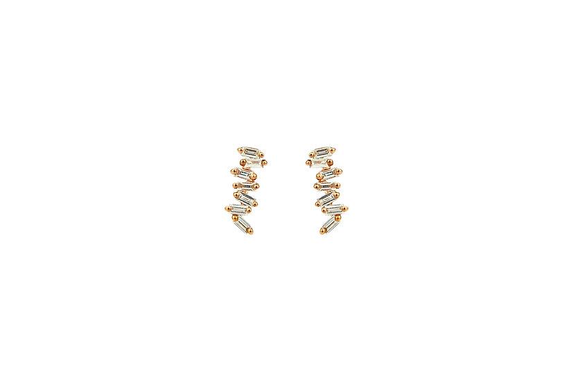 Diamond + 14k Rose Gold Stud