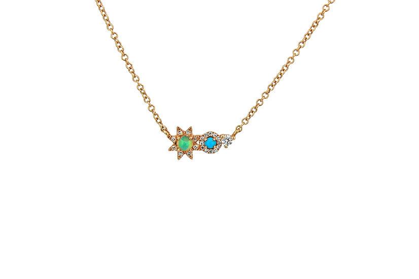 Opal, Diamond + Turquoise