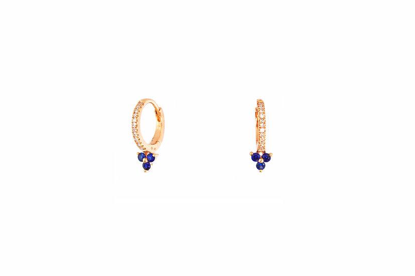 Diamond + Sapphire Huggie