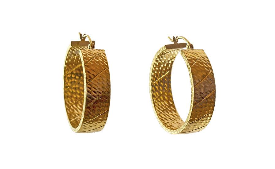 14k Gold Hoops