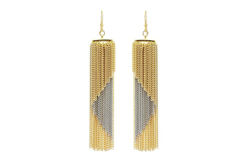 Geometric Chain Earrings